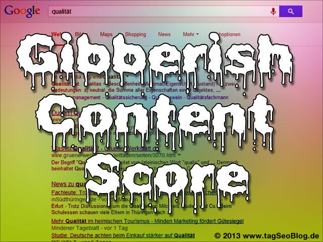 Google Schwafel Score gegen blödsinnigen Content