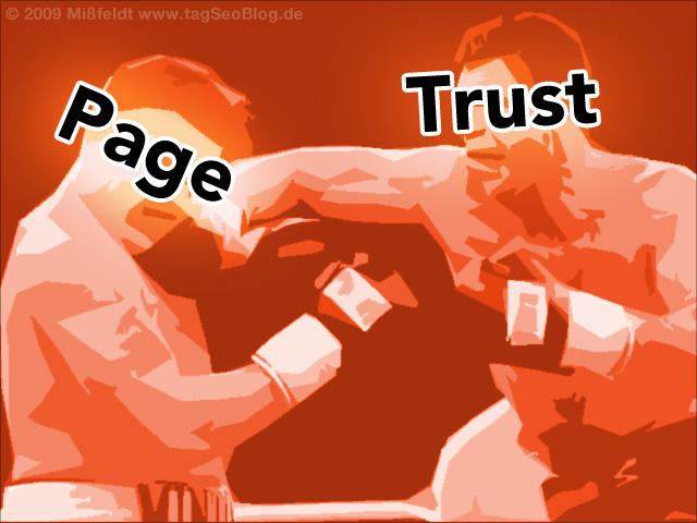 Google Trustrank versus PageRank