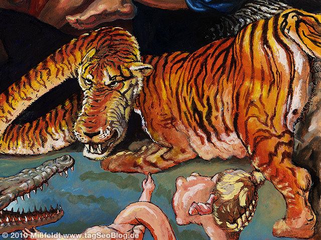 Gefährlicher Tiger (wütend!)