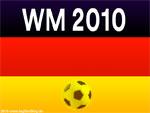 Fußball WM 2010 - Deutschland-Fahne