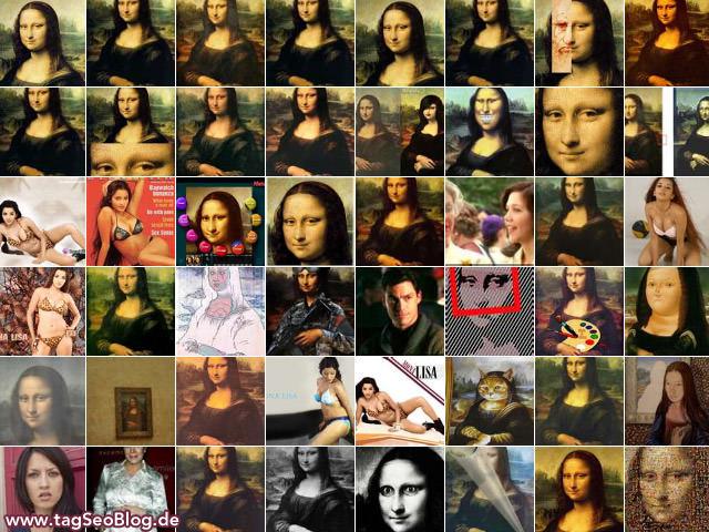 Mona Lisa, Bing-Bildersuche