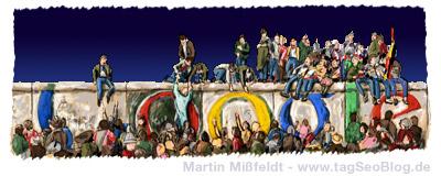 Alternatives, inoffizielles Doodle zum Mauerfall