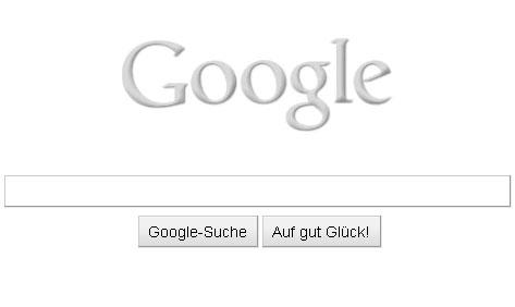Google Doodle: Grau wie farbenblind