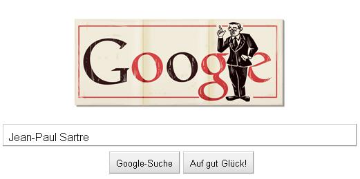 Doodle: Jean Paul Sartre