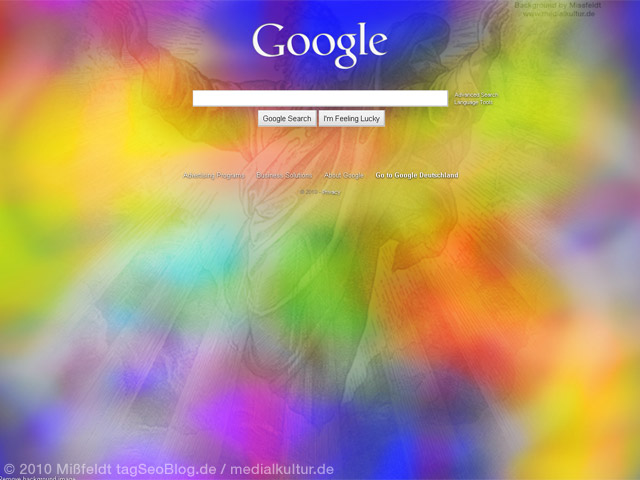 Google Hintergrundbild - schön farbig