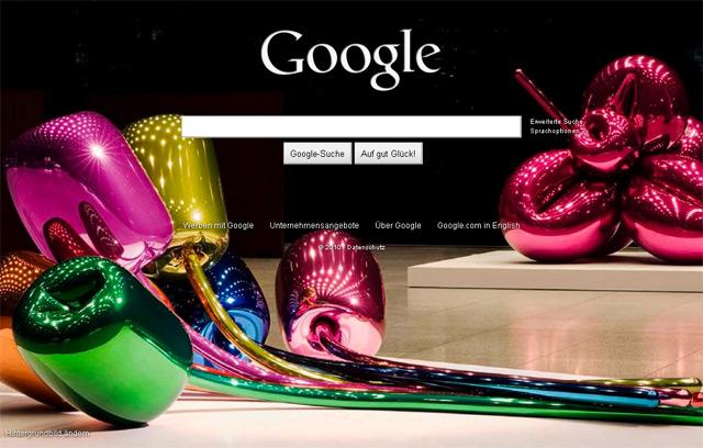 Google Startseite : Jeff Koons Blumen