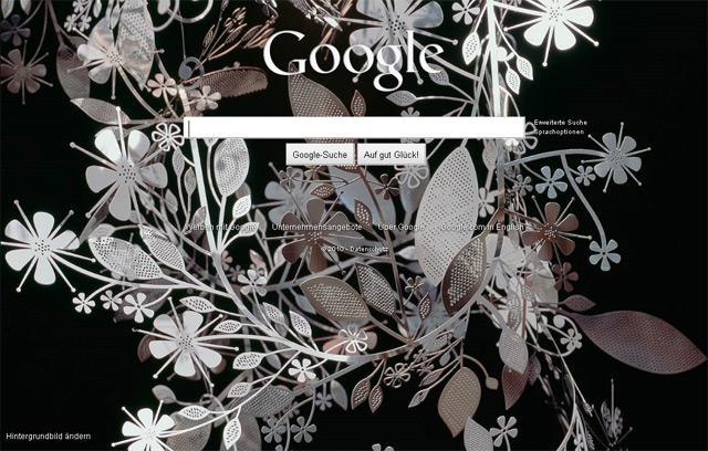 """Google Startseitenbild Nr. 4 (""""Florale Skulptur"""")"""