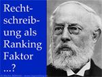 Konrad Duden - Rechtschreibung ein Ranking-Faktor?