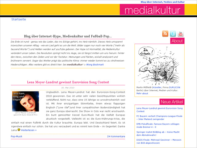 Medialkultur - Blogdesign