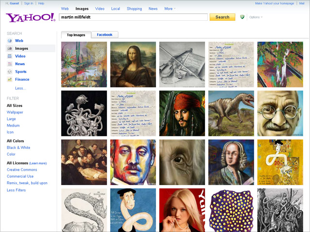 neue Yahoo Bildersuche (Relaunch)