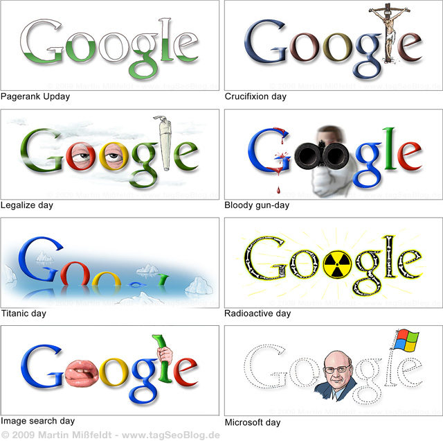Never shown Google Doodles (unofficial, by Martin Missfeldt)