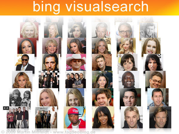 Bing Visual Search  - Microsofts neue Bildersuche mit Silverlight-Effekten