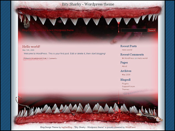 Wordpress theme : Bity Shark