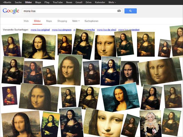Google Bildersuche in Bewegung