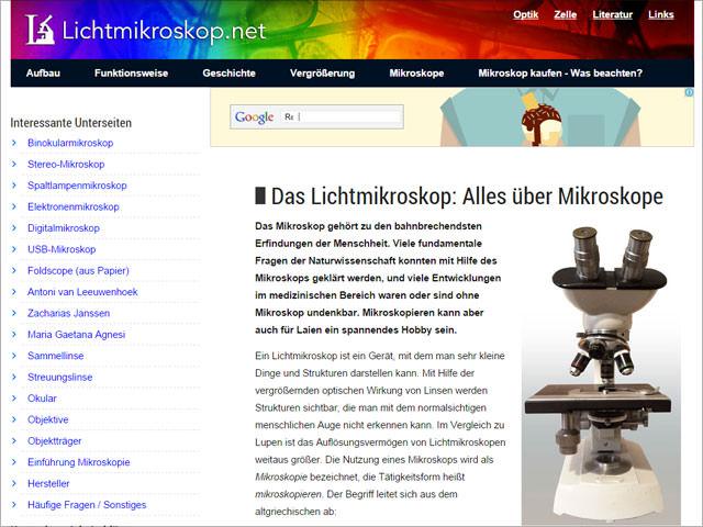 Lichtmikroskop.net (Auswertung Sept. 2014)