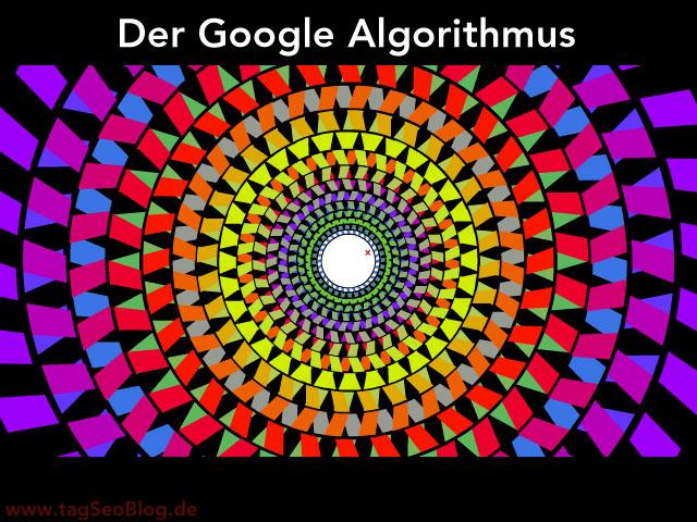 Google Algorithmus (abstrakte Visualisierung als konzentrische Kreisstruktur)