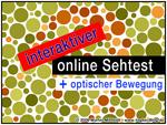 Interaktiver online-Sehtest