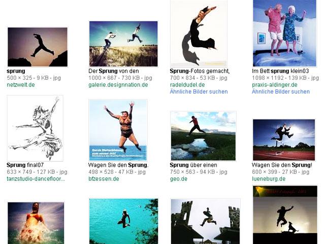 Weit / hoch / tief springen - Google Bildersuche